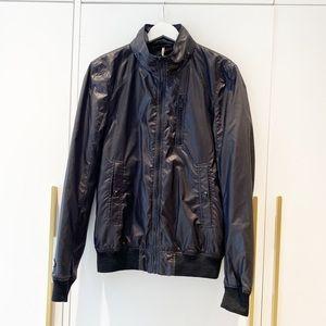 Soia & Kyo Black Rain jacket with optional hood